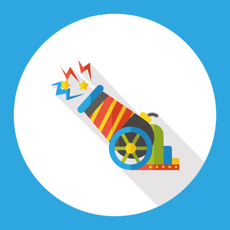 a cannon: circus cannon flat icon Illustration
