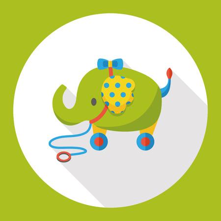 toy elephant: toy elephant flat icon