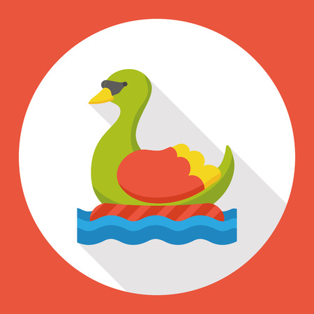 pedaling: amusement park swan boats flat icon
