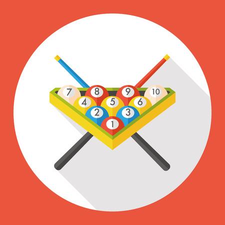 billiards rooms: sport billiards flat icon