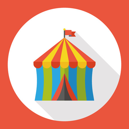 tent: circus tent flat icon