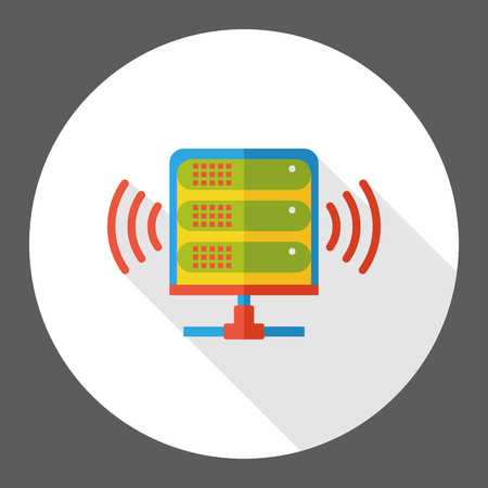 cell tower: wireless base station flat icon