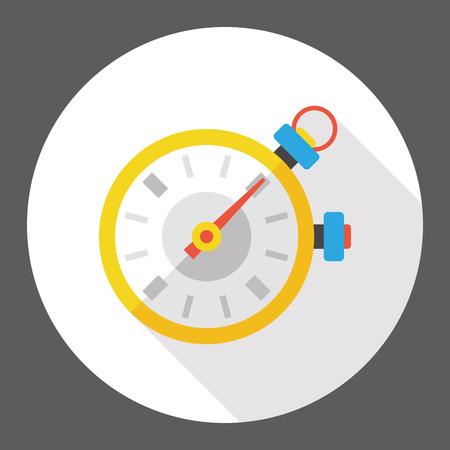deporte cronómetro icono plana