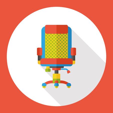 ergonomic: office chair flat icon