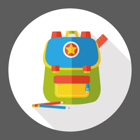 case studies: school bag flat icon