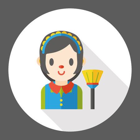 service occupation: cleaning Maid flat icon