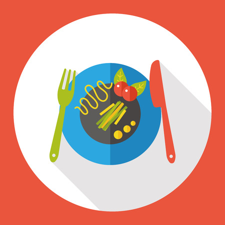 meal: tableware meal flat icon