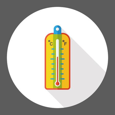 Thermometer temperature flat icon