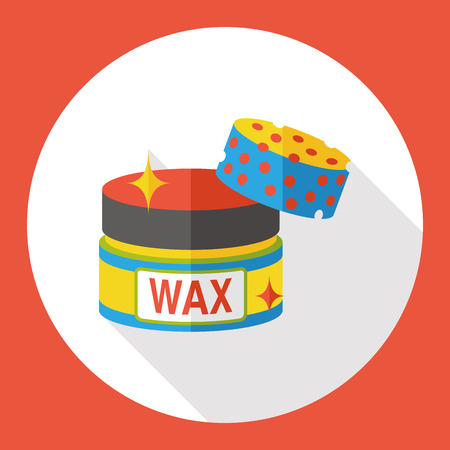 service station: cleaning wax flat icon Illustration