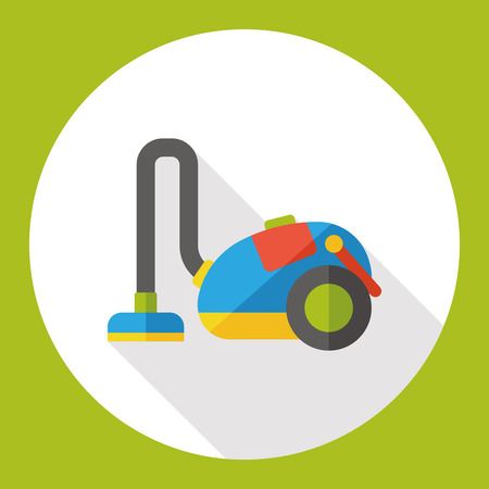 cleanup: Vacuum cleaner flat icon Illustration