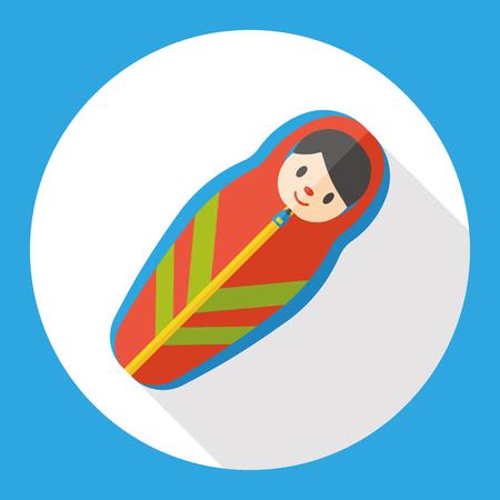 sleeping bags: sleeping bag flat icon