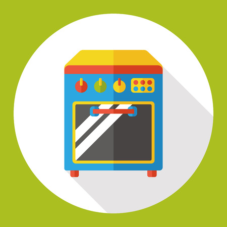 appliance: appliance oven flat icon Illustration