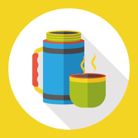 hot water bottle: hot water bottle flat icon