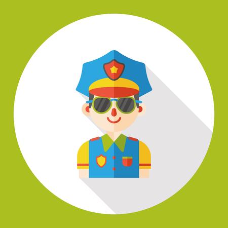 policeman: policeman occupation character flat icon
