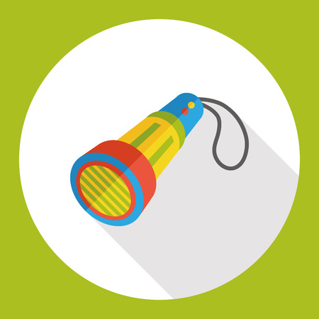 pocket flashlight: flashlight tool flat icon