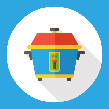 rice cooker: rice cooker flat icon