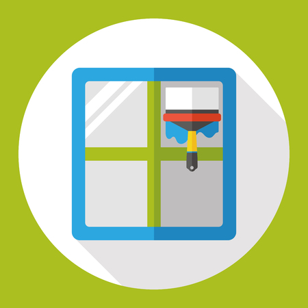 window cleaning: window cleaning flat icon