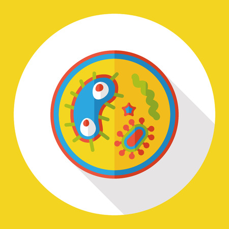 anti bacterial: bacterial virus flat icon