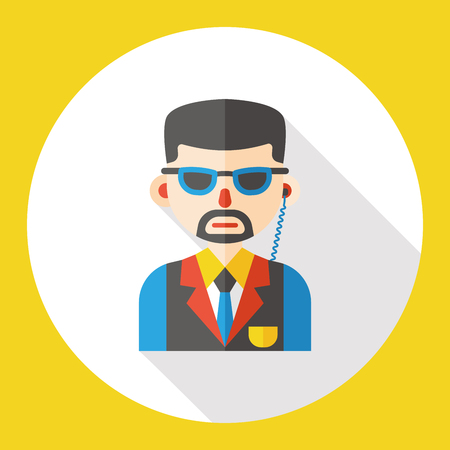 occupation: waiter occupation character flat icon