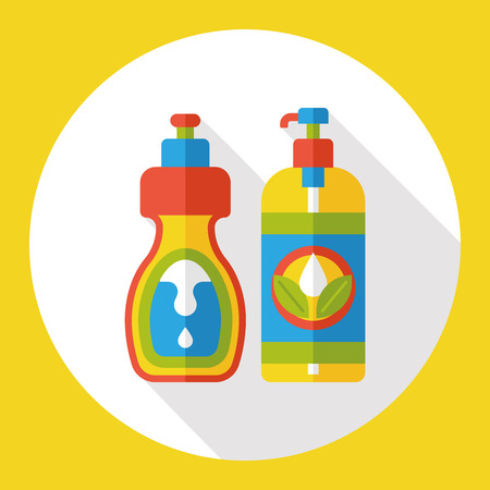 dry cleaner: cleaning detergent flat icon Illustration