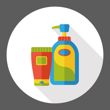 detergent: cleaning detergent flat icon Illustration
