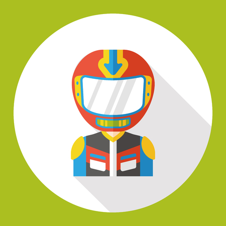 racer: racer occupation character flat icon