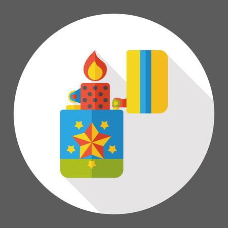lighter: fire lighter flat icon