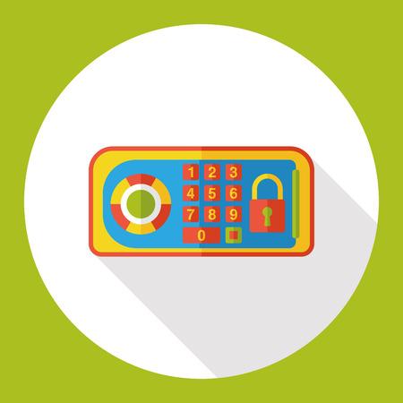 Safety Deposit Box flat icon Illustration