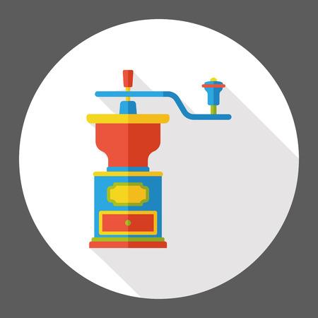 molinillo: molinillo de café icono plana