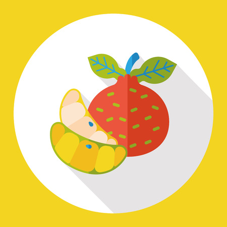 tangerine: Tangerine fruits flat icon