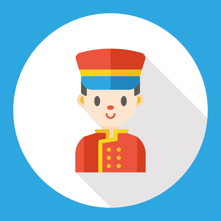 bellman: hotel bellman flat icon Illustration