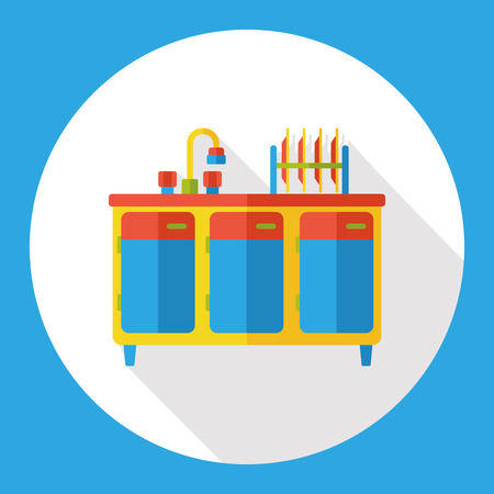 washbasin: washbasin furniture vector icon