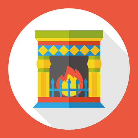 fireplaces: Fireplace chimney flat icon