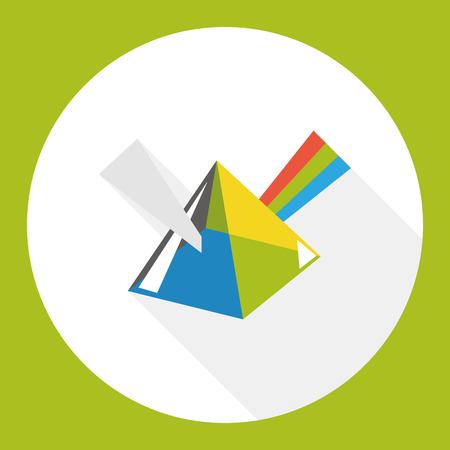 prisma: Dispersiva icono plana prisma