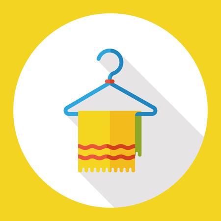 towel: towel rag flat icon