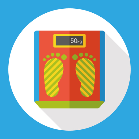 weighing machine: Weighing machine flat icon