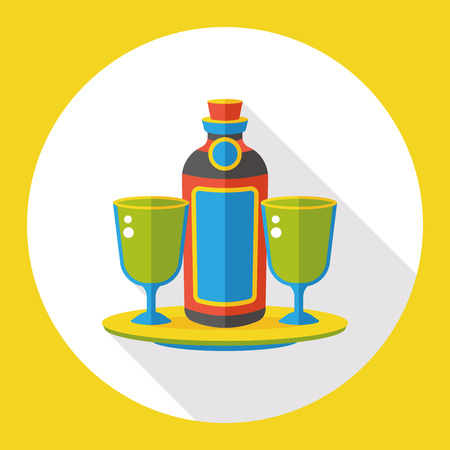 champagne cups: wine champagne flat icon