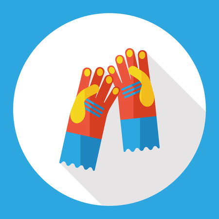 medical gloves: cleaning gloves flat icon