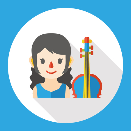 cellist: cellist occupation character flat icon