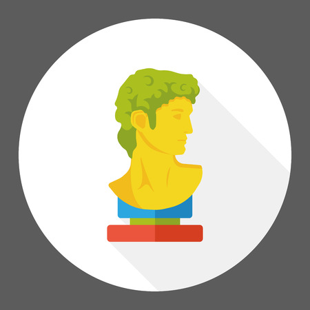 moai: statue art flat icon