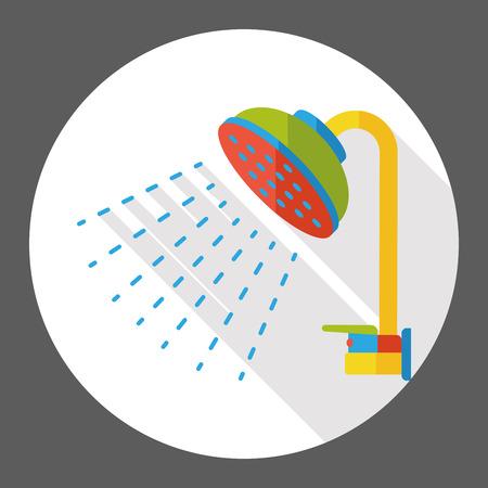 bath Showerhead flat icon
