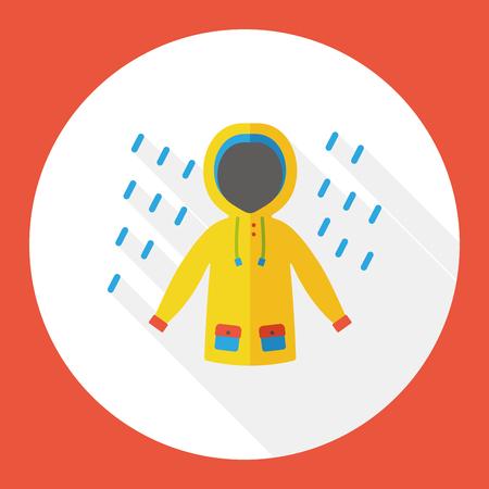 weather raining raincoat flat icon