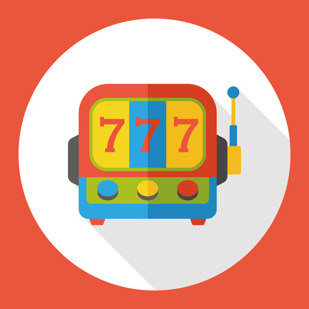 machine: Slot Machine flat icon Illustration