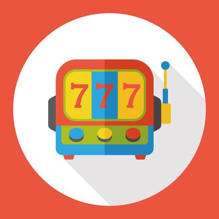 slot machines: Slot Machine icono plana