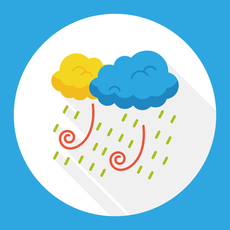 raining: weather raining flat icon