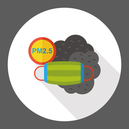 biological warfare: air masks flat icon Illustration