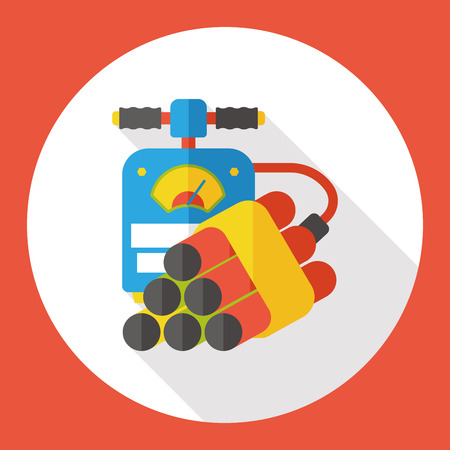 bomb dynamite flat icon Illustration