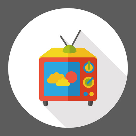 tv screen: screen tv flat icon Illustration