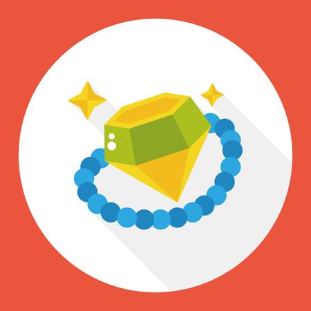 jewlery: diamond jewlery flat icon