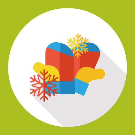 snowy: weather snowy glove flat icon
